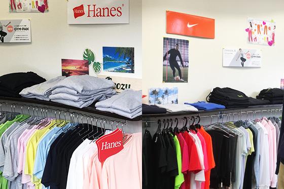 Tシャツやポロシャツ、各種スポーツウェア等の販売